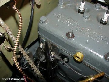 mb gpw g wwii military jeep r 7 remove coil wire this wire comes from the firewall so you will need to remove it as well as the cable to the distributor cap if you take it off like